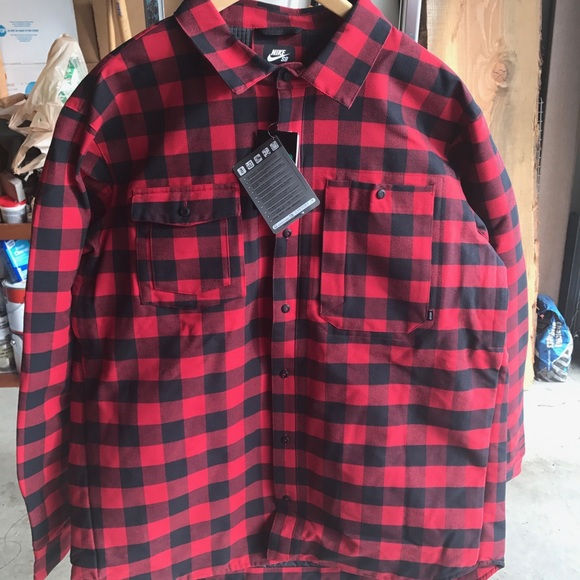 reliable quality new arrivals free delivery Nike SB 800 Aeroloft Flannel Jacket NWT